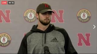 Hear from Tanner Lee following Nebraska's win