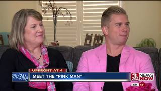 Omaha man goes all pink for Race for the Cure