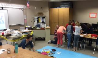 In the classroom: CSI class