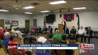 Mayor Stothert holds first in series of town...