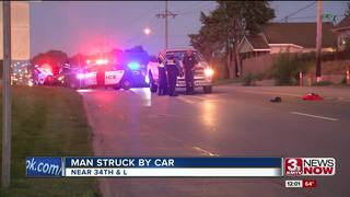 UPDATE: Omaha man dies after being hit by car