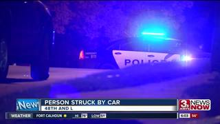 Pedestrian hit by car near 48th and L
